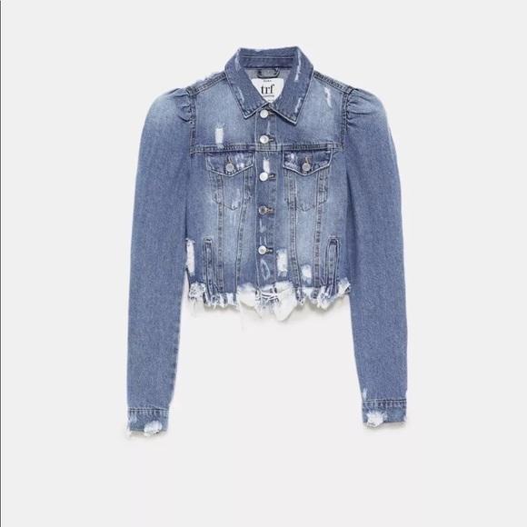 92ee6b0e4ee32 Zara Puff Sleeve Denim Jacket